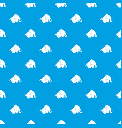 origami elephant pattern seamless blue vector image