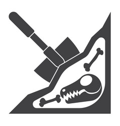 Paleontology icon vector