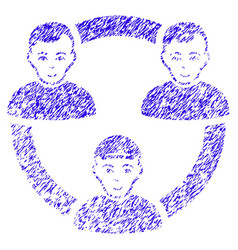 persons collaboration network icon grunge vector image