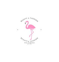 Pink flamingo logo vector