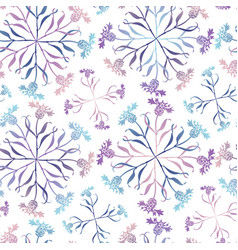 Seamless pattern with abstract flowers can be vector