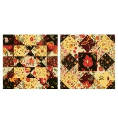 Sey of Creative seamless patchwork pattern with vector