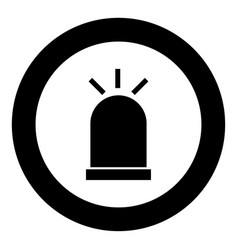 siren icon black color in circle vector image