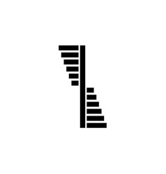 spiral stairs logo steps around central vector image