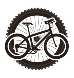 sport bicycle with wheel vector image