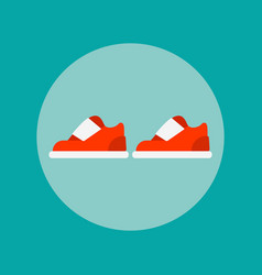 Sports shoes icon vector