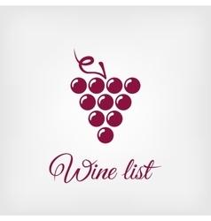 stylized grapes design element logo vector image vector image
