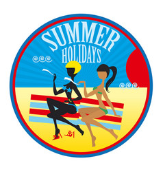 summer holidays label vector image