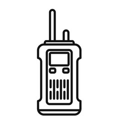 Survival walkie talkie icon outline style vector