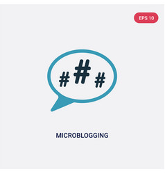 Two color microblogging icon from technology vector