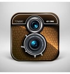 Vintage photo camera icon vector image