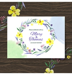 Wedding invitation card vector image