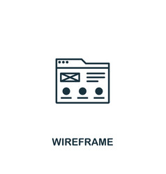 wireframe icon premium style design from design vector image