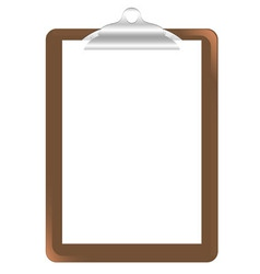 Wood clipboard base vector