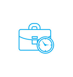 working time linear icon concept working time vector image