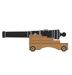 artillery set cannon weapon army icon war vector image