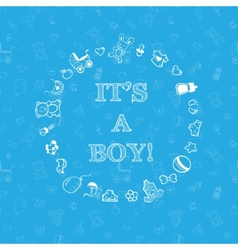 baby shower design over blue background with vector image
