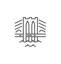 bridge line icon vector image vector image