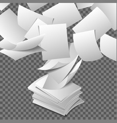 Flying paper sheets vector image vector image