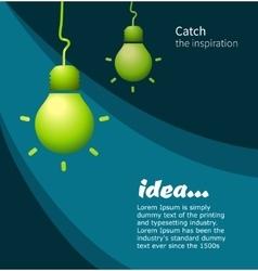 Lamp symbol idea vector image vector image