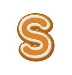 letter v gingerbread peppermint honey-cake font vector image vector image