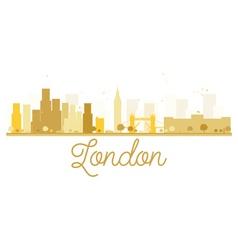 London City skyline golden silhouette vector image