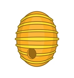 Round beehive icon cartoon style vector image