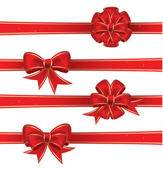 set from bows vector image
