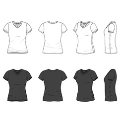 V-neck t-shirt vector image vector image