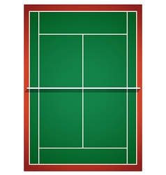 Aerial view of badminton court vector image vector image