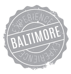Baltimore stamp rubber grunge vector image