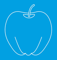 ripe apple icon outline style vector image vector image