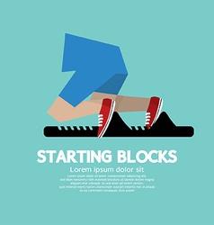 Running starting blocks vector