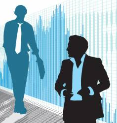 stock traders vector image vector image