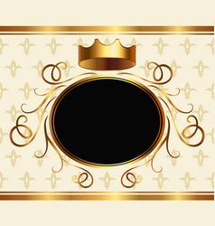 Elegant aristocratic card with golden crown vector
