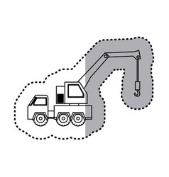 figure car crane icon vector image