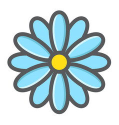 flower filled outline icon easter and holiday vector image vector image