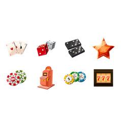 gambling icon set cartoon style vector image