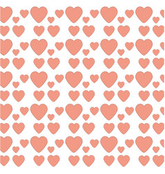 heart love decoration seamless pattern vector image vector image