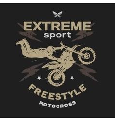 Motocross sport free style vector
