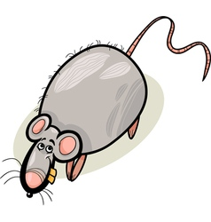 rat cartoon character vector image vector image