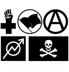 anarchy signs and symbols vector image vector image