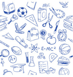 back to school education doodles pencil vector image vector image