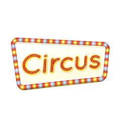 circus retro light frame advertising glowing sign vector image vector image