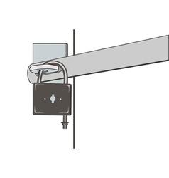 closed padlock vector image vector image