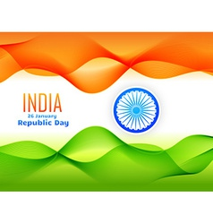 Indian republic day flag design made with tricolor vector