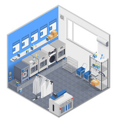 laundry isometric concept vector image