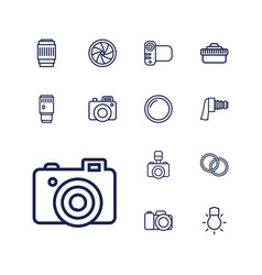 13 photographic icons vector