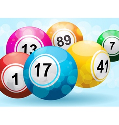 3d bingo or lottery ball background vector image