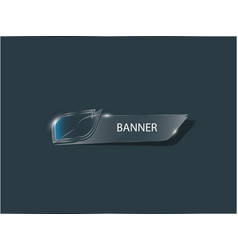 Banner clear tilted vector